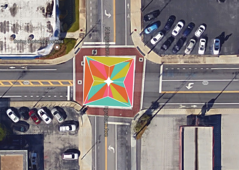 This East Main Street Intersection is The First of Many Local Artist Transformations